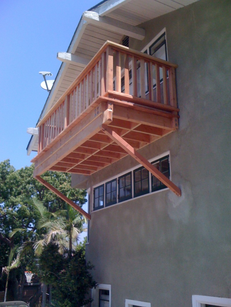 Silverlake Redwood Deck